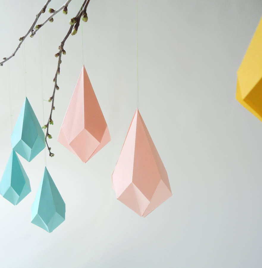 Origami Template Crystal A Wooden DIY To Create Stunning Geometric Paper Shape