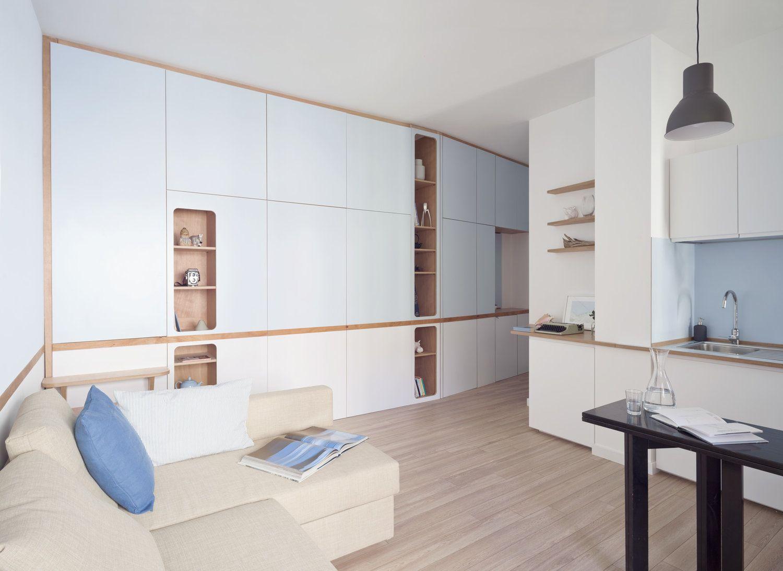 dupla hálószoba egyedi falbeépítéssel mindössze 37 nm-en, #bútor ...