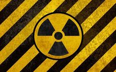 Download wallpapers Sign of radiation, Hazard symbols, 4k