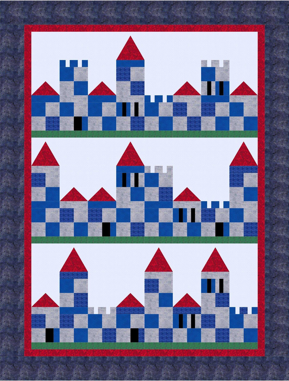 Q118 Patch Castle Quilt Pattern Steppmuster Und Quilten