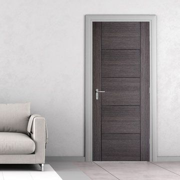 Vancouver Ash Grey Internal Door Is 1 2 Hour Fire Rated And Prefinished Grey Interior Doors Doors Interior Modern Grey Internal Doors
