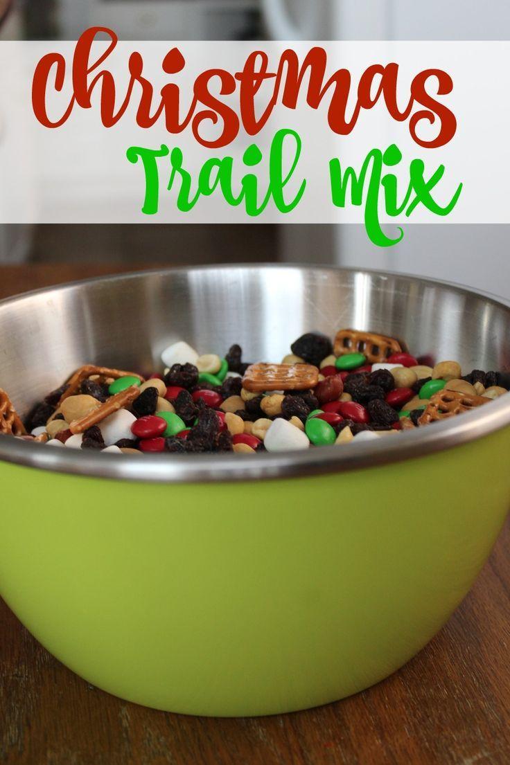 Christmas Trail Mix Last Minute Gift Idea