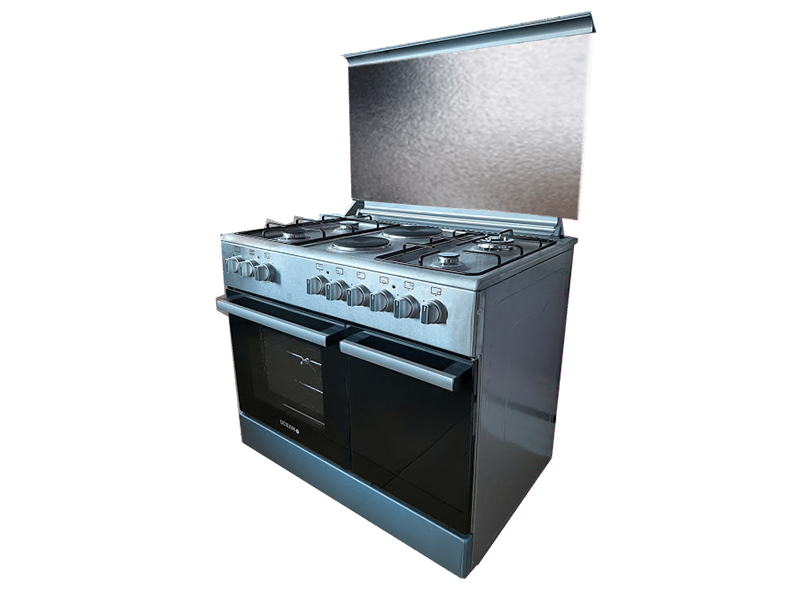 Ocean Cooker 4 Gas 2 Elec Electric Oven With Gas Safety Gas Storage Ocer 9642 22ic Copy In 2020 Electric Oven Gas Burners Rotisserie Oven