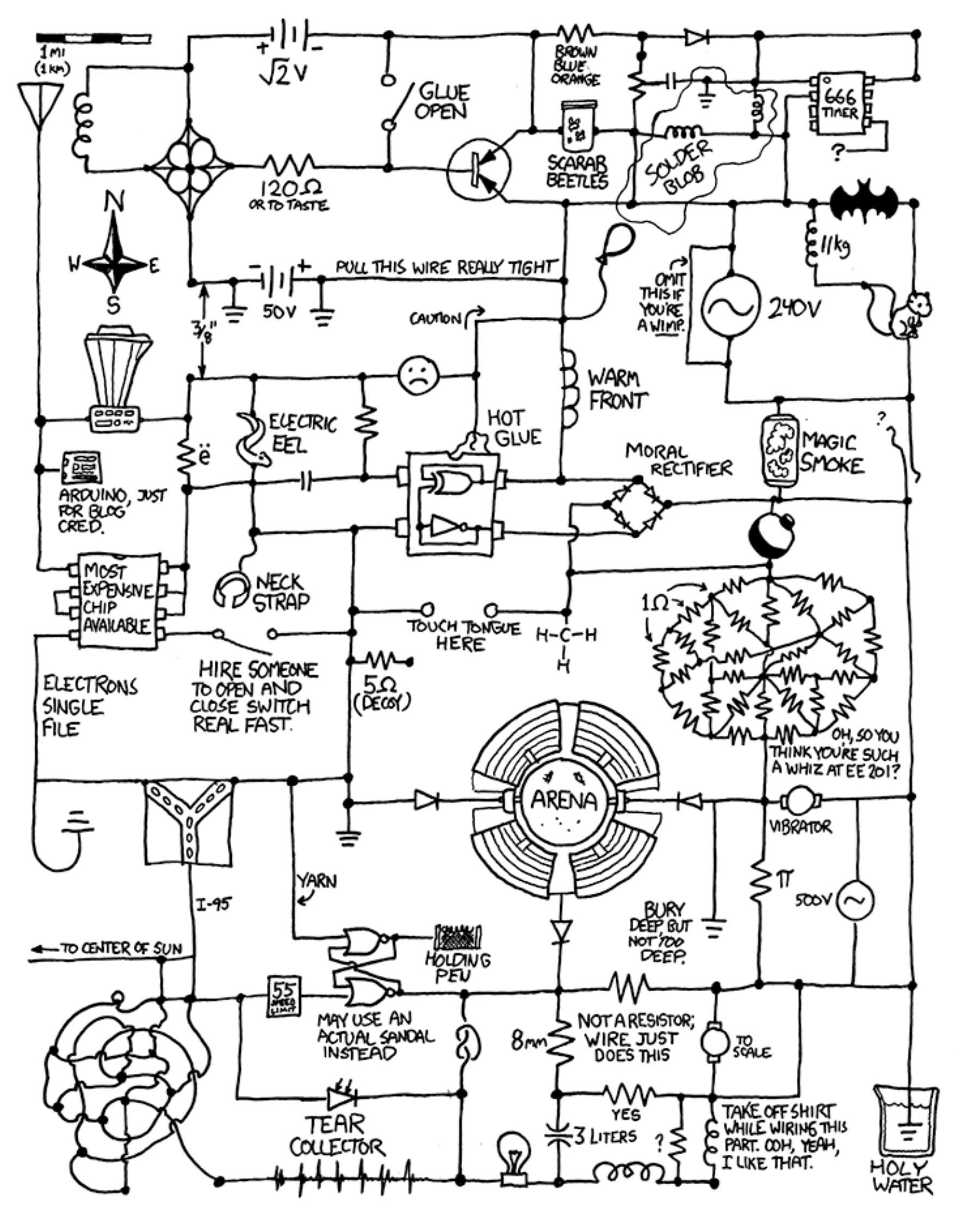 xkcd com circuit diagram lol stuff i like pinterest circuit rh pinterest  com 120V Electrical Switch Wiring Diagrams Basic Electrical Wiring Diagrams