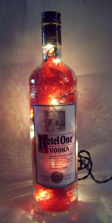 Ketel One Vodka Bottle Lamp 30 00 Via Etsy Bottle Lamp Liquor Bottle Lamp Vodka