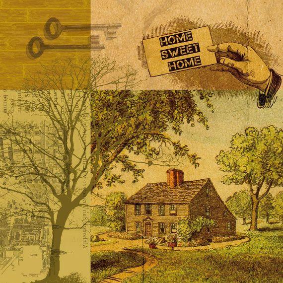 HOME SWEET HOME poster print // 12.2 x 12.2 door SchildertuinDesign