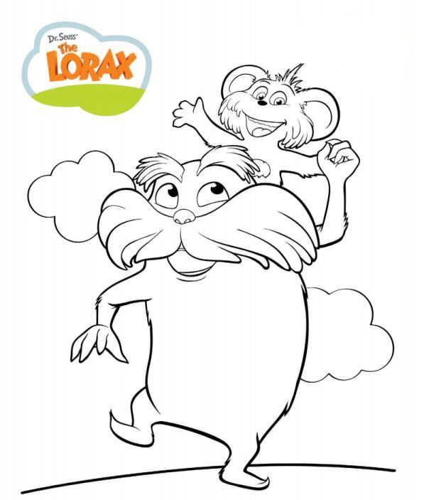 Coloring Page Dr Seuss The Lorax Kids N Fun Dr Seuss Coloring Pages Coloring Pages Bear Coloring Pages