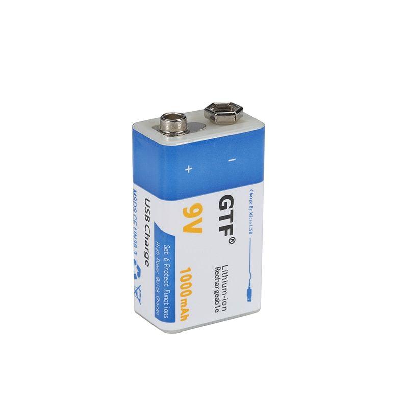 9v 1000mah Li Ion Rechargeable Battery Micro Usb Batteries 9 V Lithium For Multimeter Microphone Toy Remote Control Ktv Use Rechargeable Batteries Micro Usb Multimeter