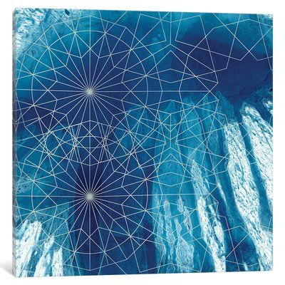 "East Urban Home 'Crystalline III' Graphic Art Print on Canvas Size: 18"" H x 18"" W x 0.75"" D"