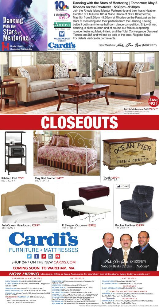 Cardi S Furniture Daily Ad 5 4 2016 Please See Showroom For Full