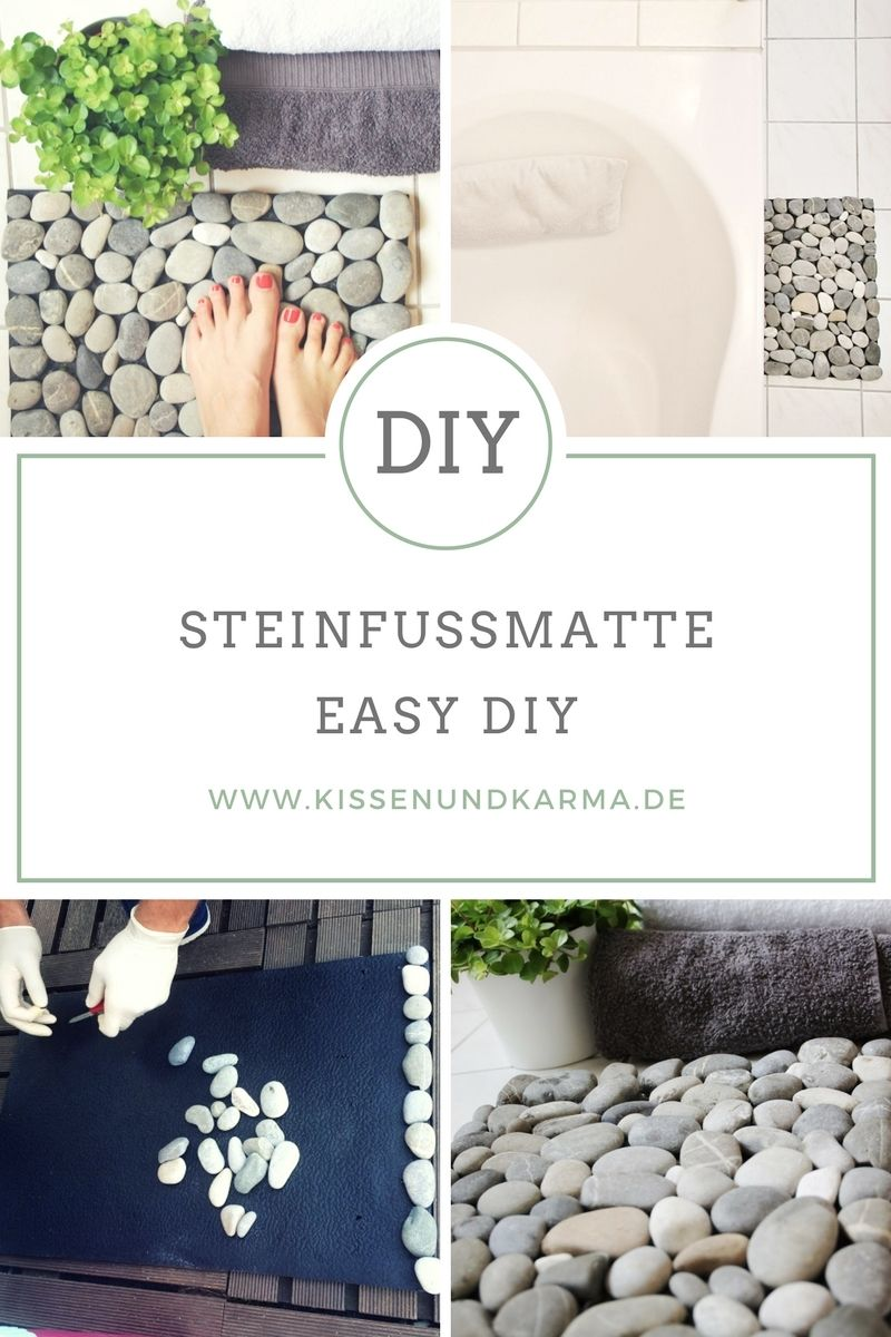 Natur Zu Hause Das Stein Fussmatten Diy Fussmatte Badematte Stein Badezimmer