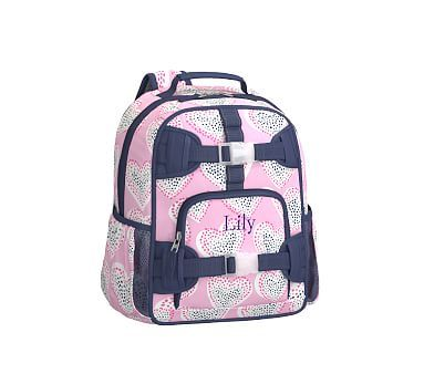 Pre-K Backpack, Mackenzie Pink Dotty Foil Hearts
