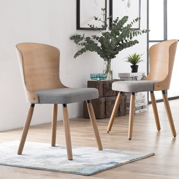 Corvus Calvados Mid Century Modern Bamboo Dining Chairs