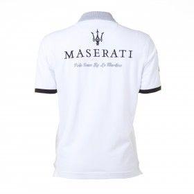 Short sleeve polo shirt Italia, white