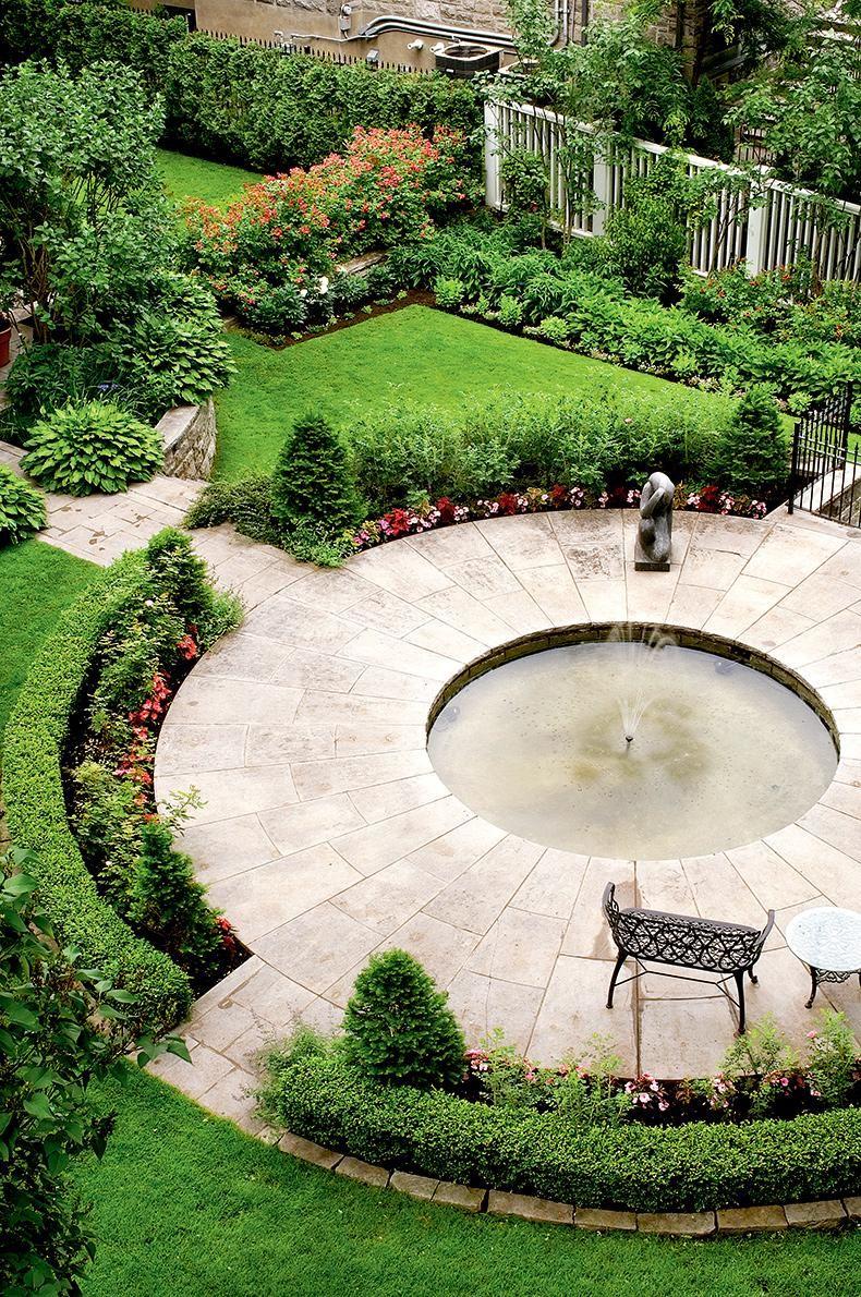 Un Jardin à La Française : jardin, française, Jardin, Française, Pouce, Landscape, Design,, Circular, Garden, Architecture