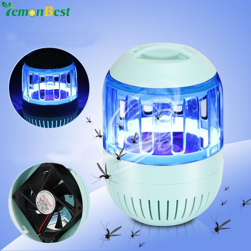 Silent Inhalant Led Electronic Mosquito Repellent Usb Photocatalyst Killer Lamp No Radiation Insect Catcher Trap