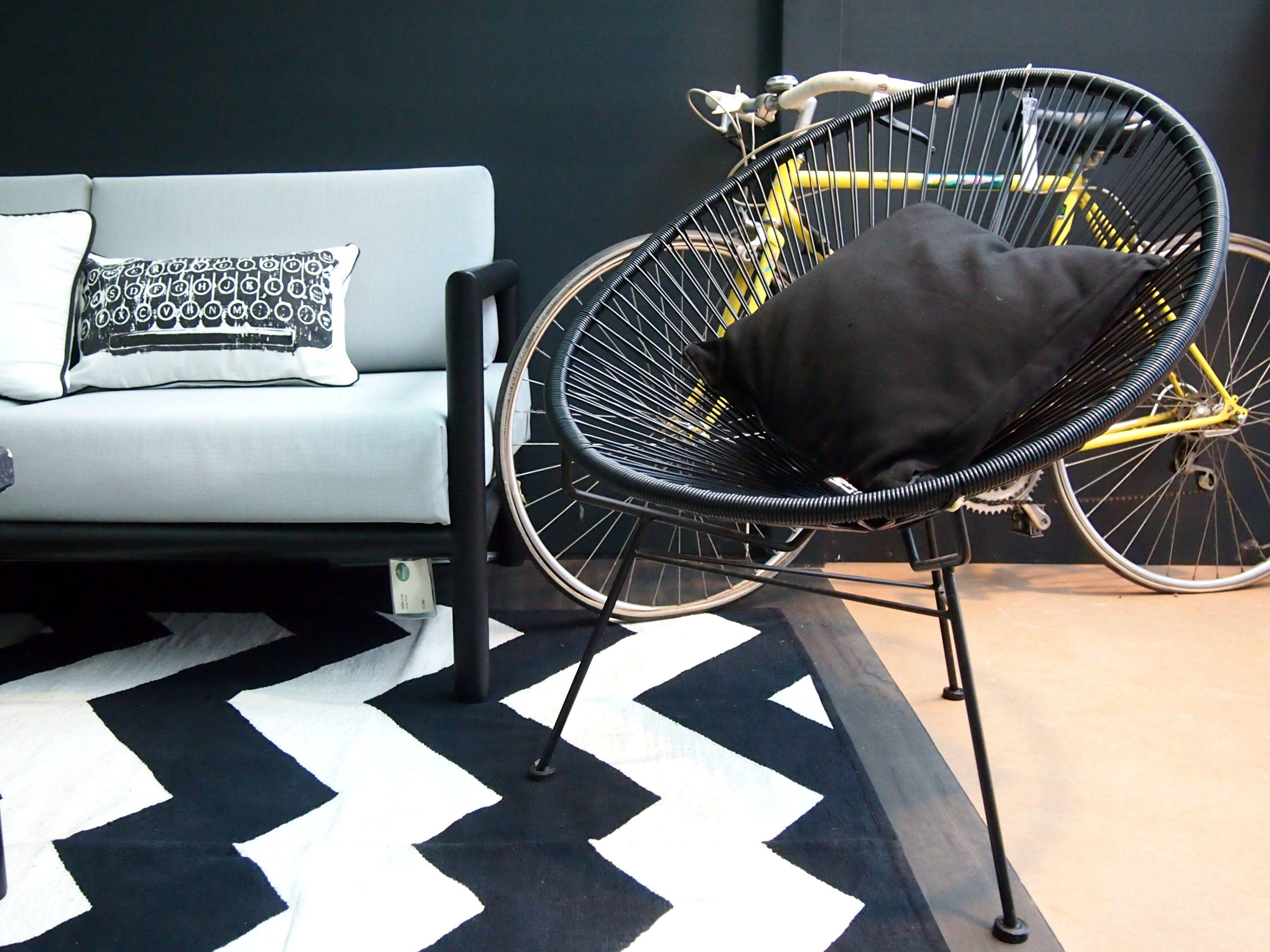 columbus zwarte designstoel design stoel binnen buiten