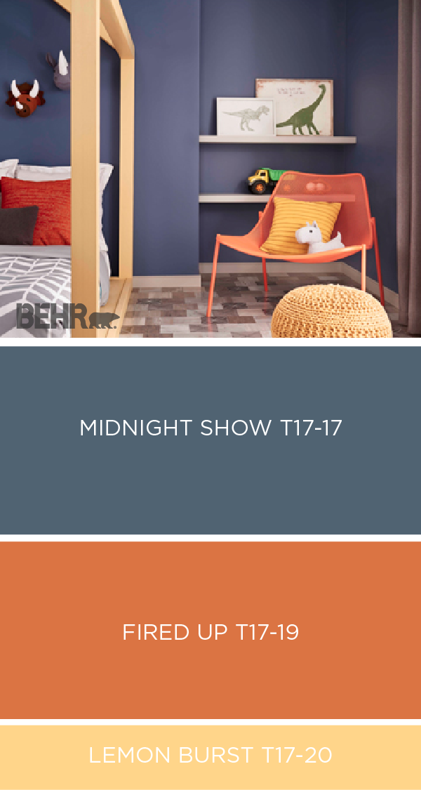 This Colorful Kid S Room Gets A Cool Modern Update With Little Help From The Shades In Behr Collection Of 2017 Color Curs