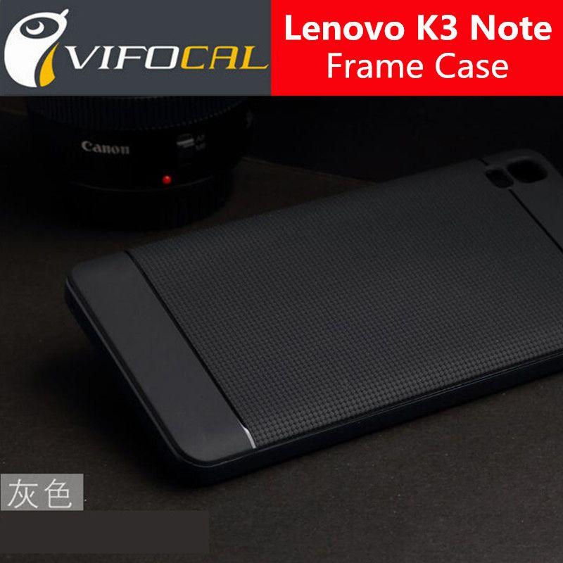 Für lenovo a7000 case tpu silicon hybrid + pc dual layer rahmen zurück cover schützende zubehör für lenovo k3 note k50 telefon