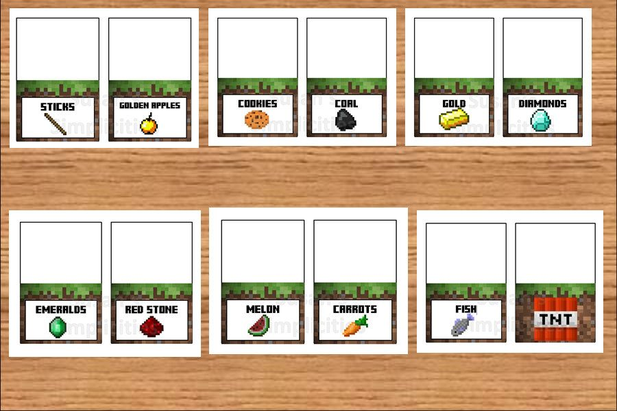 image result for free printable minecraft food tent labels