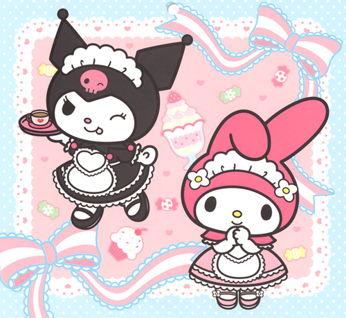 my melody & kuromi (With images) | Hello kitty characters ...
