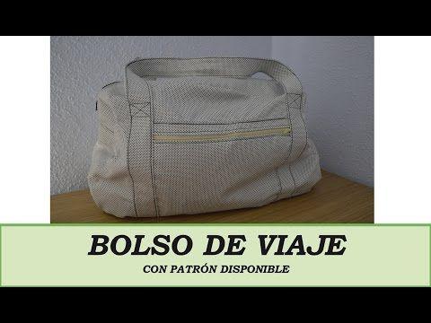 Bolso de viaje DIY con patrón disponible. YouTube | Bolso