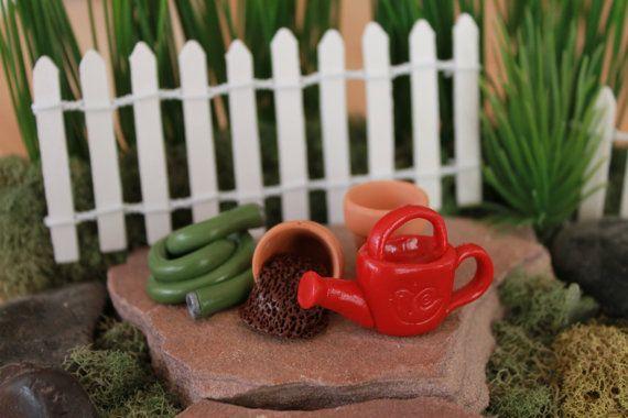 Fairy Garden Spring Garden Set Polymer Clay Fairy by GnomeWoods