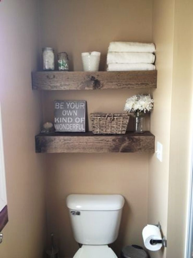 25 Exciting Bathroom Decor Ideas That Can Guide You From Functional To Fantastic Bathroom Decor In 2020 Diy Shelves Easy Wooden Floating Shelves Floating Shelves Diy