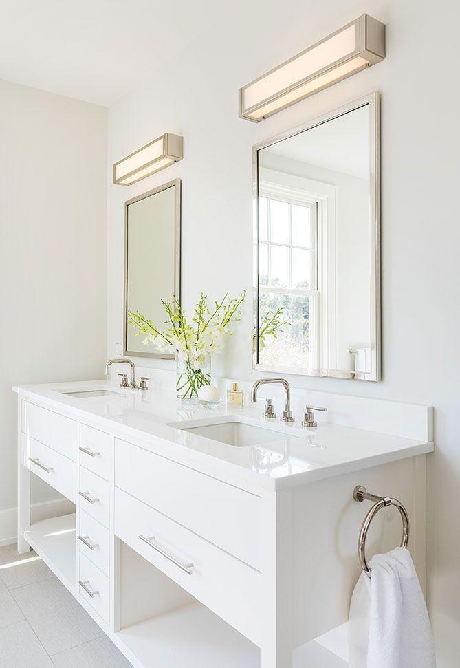 White Bathroom   Lake House   Beach House   #bathroom #bathroomdesign #bathroomdecor #bathroomideas #interiordesign #interiordesigntips #homedecor #homedecorideas #beachhouse #coastalliving
