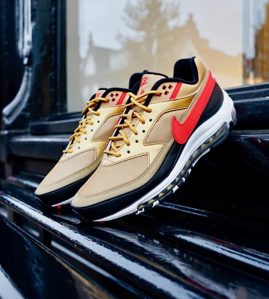 d48841c84c Nike Air Max 97 / Bw Metallic Gold University Red White Black | Nike ...