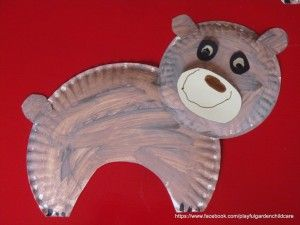 Paper Plate Brown Bears & Paper Plate Brown Bears | abc activities | Pinterest | Brown bear ...