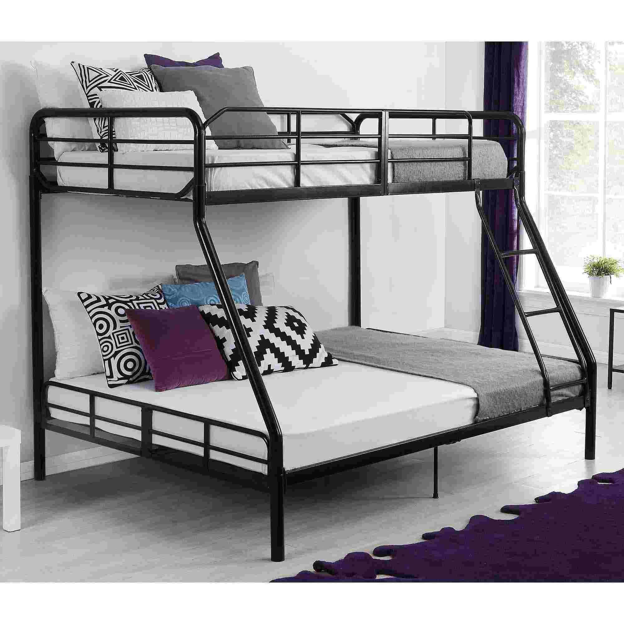 lit mezzanine en metal noir bunk beds