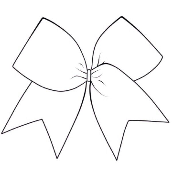 Image Result For How To Draw A Good Cheer Bow Bow Drawing Cheer