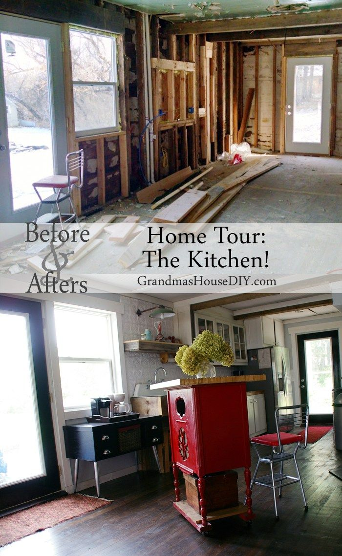 Custom Country Kitchen Home Tour The Kitchen Reveal At Grandma's House Diy  Cast Iron