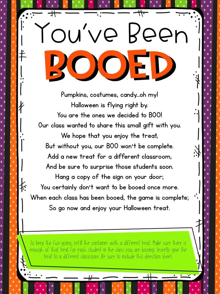 You\u0027ve Been Booed-Classroom Edition Classroom Management and