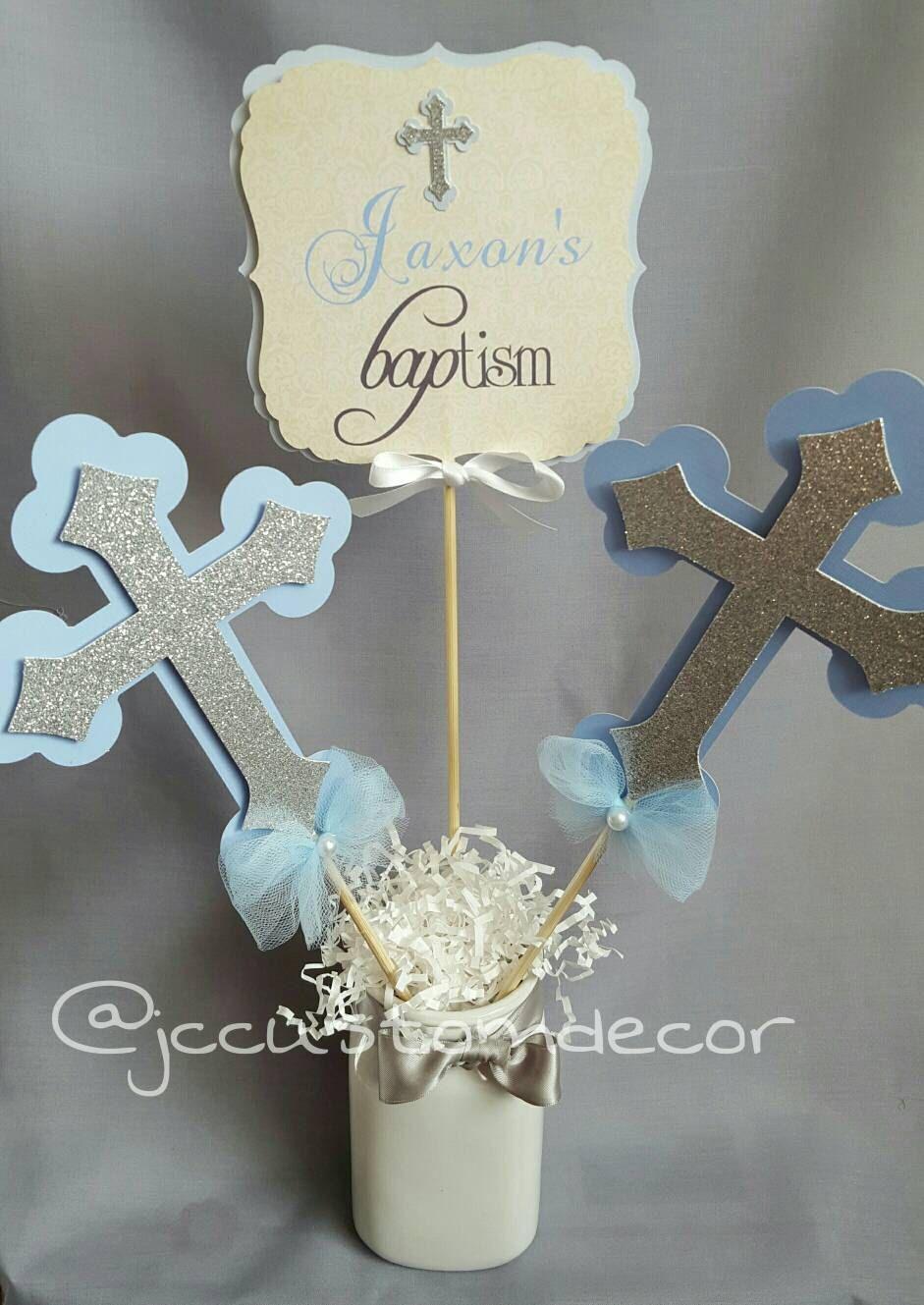 Baptism Boy Girl Centerpiece Communion By Jccustomdecor On