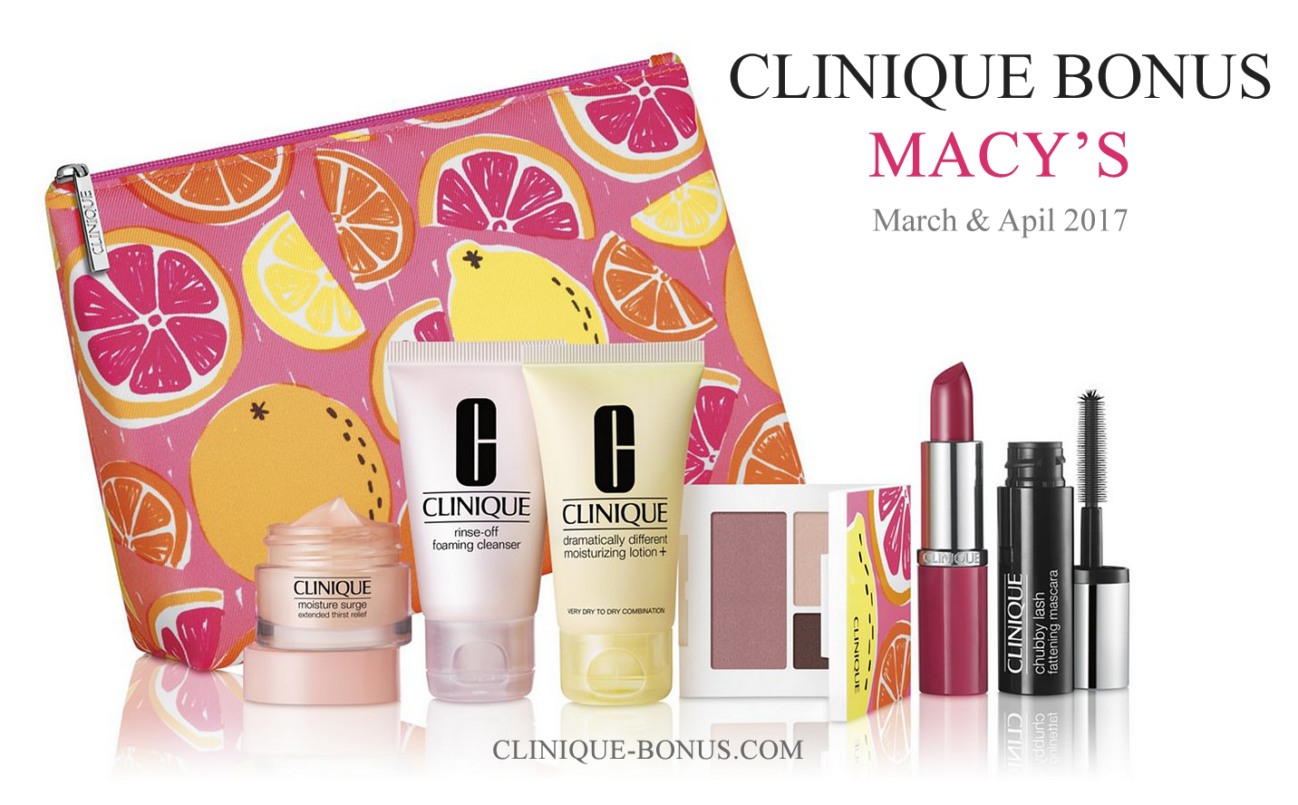 Spring Clinique Gift at MACY'S. Starts now. Online and