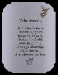 Volunteer Thank You Cards Inspirational Poems With Pins