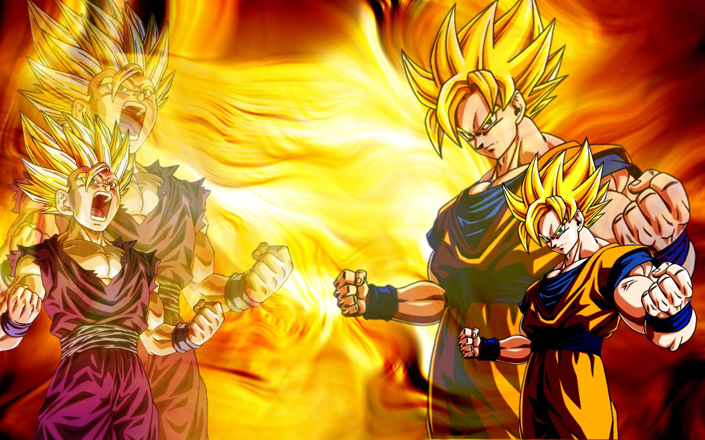 Free Background Pictures Of Dragon Ball Z Goku And Gohan Goku