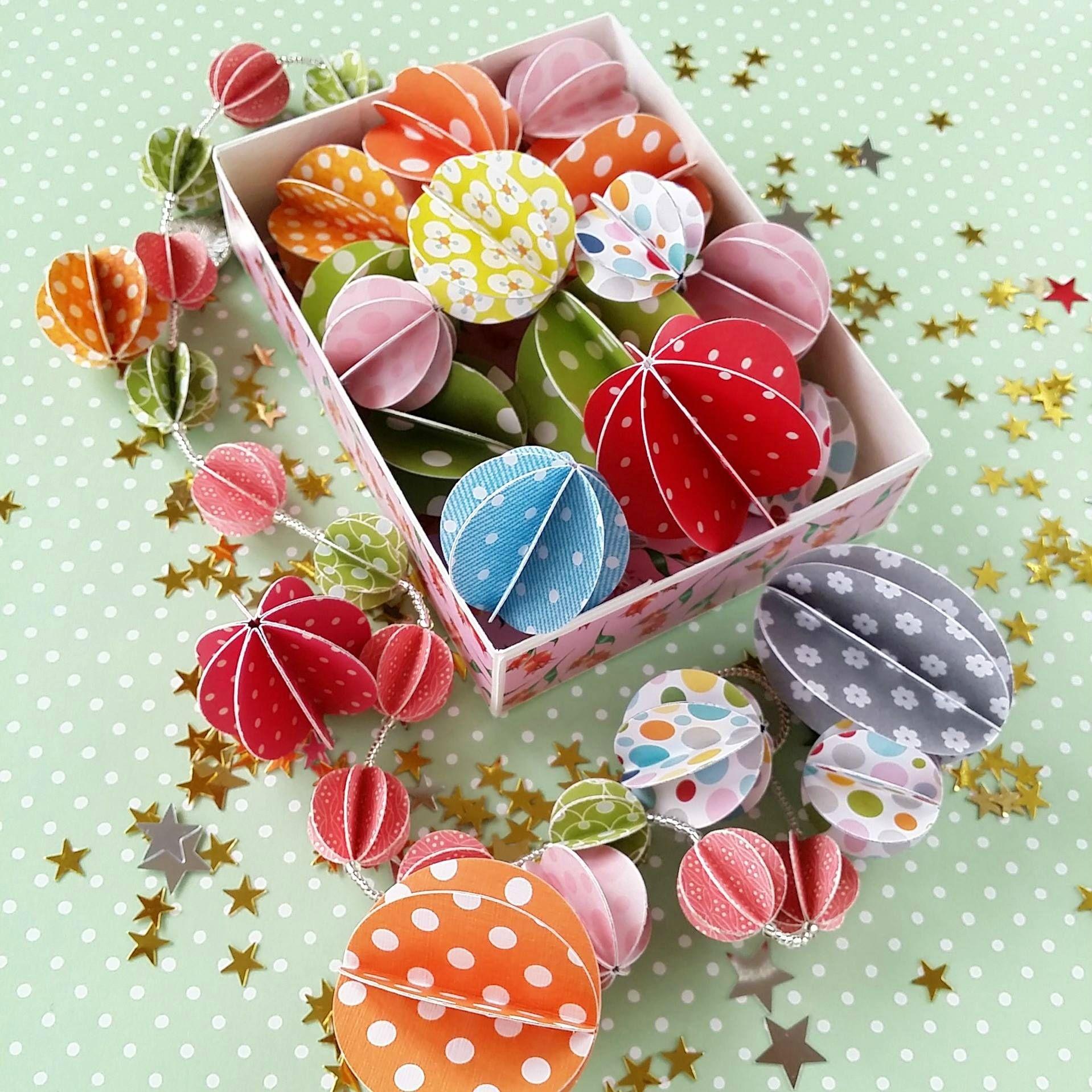 tuto des boules en papier ♡ - Décoration, Diy, Tuto Crochet et Papier | Boule de papier ...