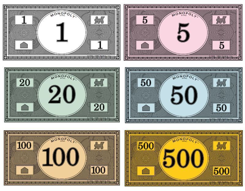 Where to print your own Monopoly money | kiddos | Monopoly