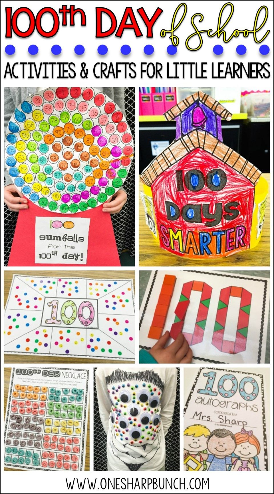 100th Day Of School Activities Crafts Freebies 100th Day Of