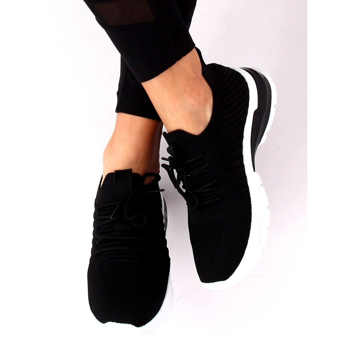 Buty Sportowe Czarne Zh 6 Black