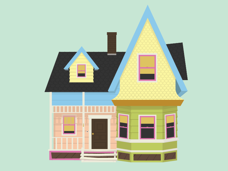 Pixars Up House Illustration Illustrations And