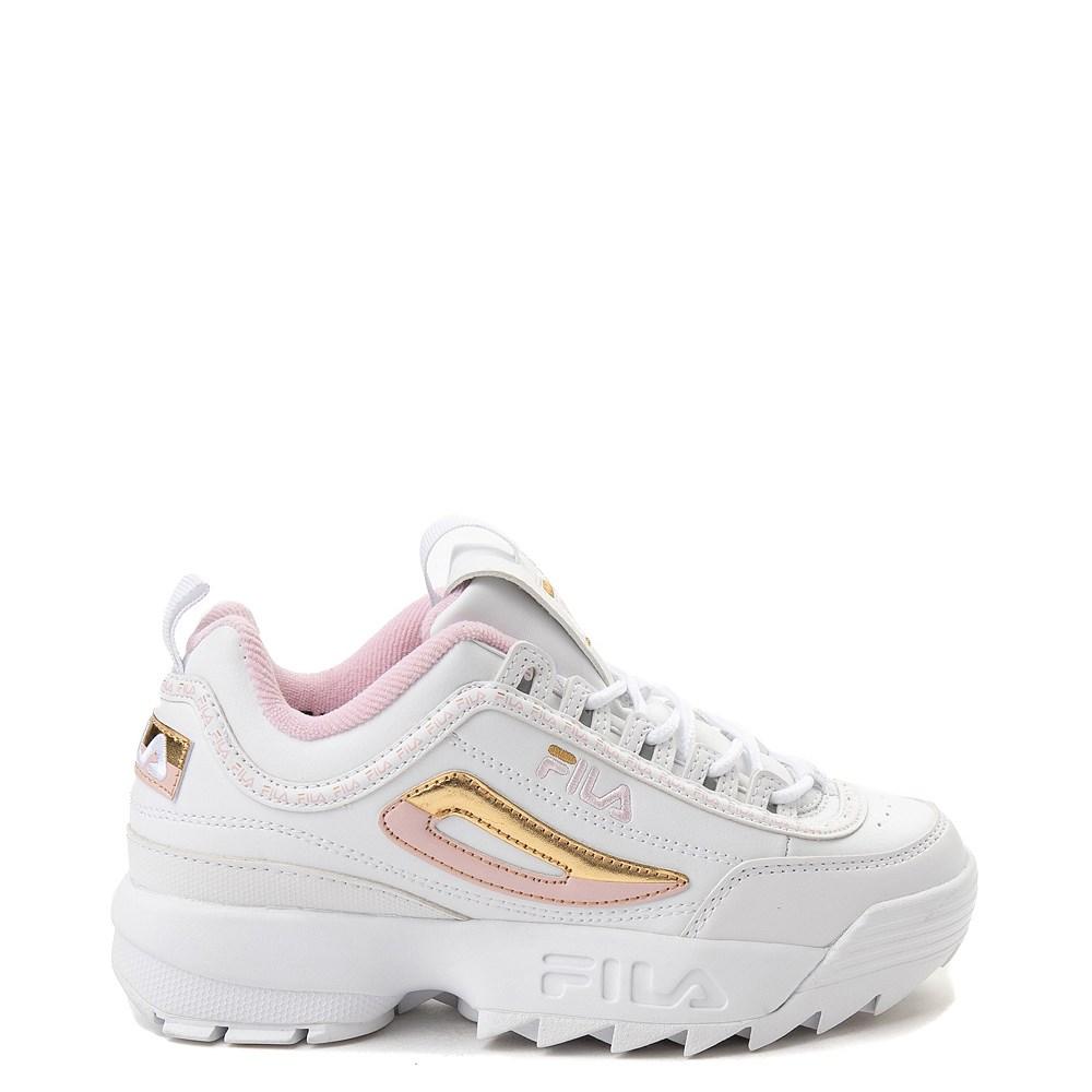 Fila Disruptor 2 Athletic Shoe Big Kid White Pink