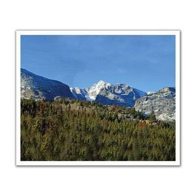 JP London POS2145 Into the Boreal Forest Mountain Rocky Range Peel and Stick Removable Wall Decal Mural