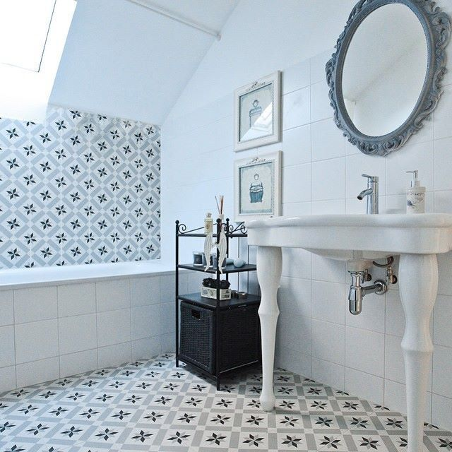 Encaustic Effect Retro Style Victorian Effect Floor Tiles