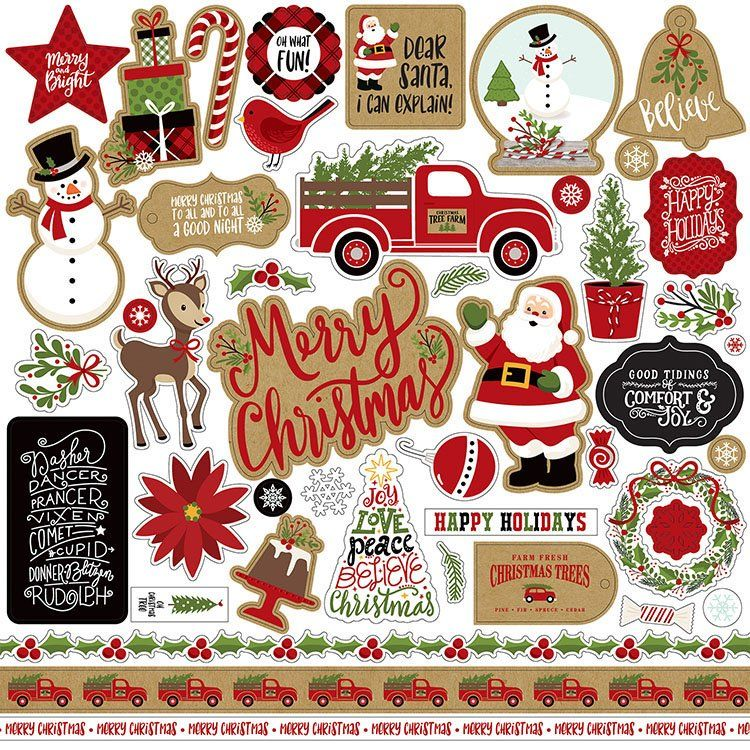 Echo Park Celebrate Christmas Elements Stickers