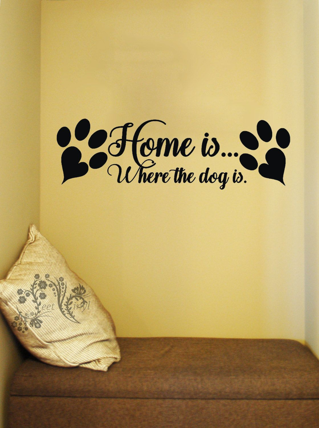 Home is where the dog is - Family wall Decals - Wall Decal - Wall ...