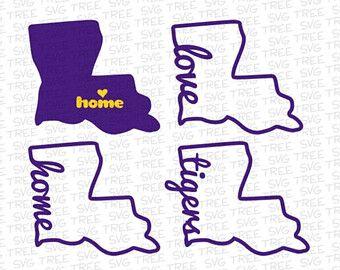 Home Sweet Home, Louisiana Love, Tigers Fan - SVG, DXF ...
